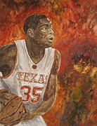 Basketball Paintings - Kevin Durant - Texas Longhorn Basketball by Currie Smith