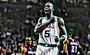 Slam Dunk Framed Prints - Kevin Garnett Framed Print by Florian Rodarte