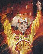 Sports Art Painting Posters - Kevin Harvick Poster by Christiaan Bekker