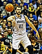 National Basketball Association Prints - Kevin Love Print by Florian Rodarte