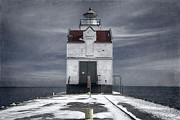 Frozen Shore Prints - Kewaunee Pierhead Lighthouse Print by Joan Carroll