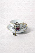 China Rose Prints - Key And Cup Print by Joana Kruse
