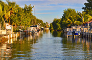 Green Key Park Framed Prints - Key Largo Canal 2 Framed Print by Chris Thaxter