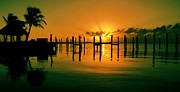 Florida Sunset Framed Prints - Key Largo Evening Framed Print by Benjamin Yeager