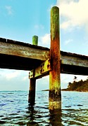 Florida Living Posters - Key Largo Pier Poster by Benjamin Yeager