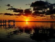 Florida Keys Photos - Key Largo Sunset by Benjamin Yeager
