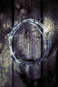 Barbed Wire Framed Prints - Key Of A Treasure Chest Framed Print by Joana Kruse