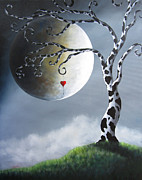 Full Moon Paintings - Key To My Imagination by Shawna Erback by Shawna Erback
