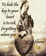 Lorri Crossno Art - Key To Your Heart by Lorri Crossno