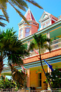 Florida House Prints - Key West Print by Carey Chen