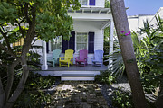 Front Porch Framed Prints - Key West Chairs Framed Print by Paul Plaine