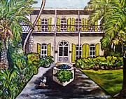 Key West Paintings - Key West Hemingway Home by Lois    Rivera