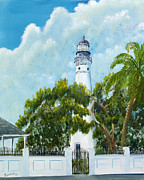 Randall Painting Originals - Key West Lighthouse by Randall Brewer