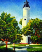 Key West Paintings - Key West Lighthouse by Shelia Kempf