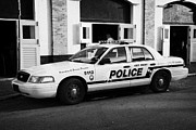 Patrol Car Acrylic Prints - Key West Police Patrol Squad Car Key West Florida Usa Acrylic Print by Joe Fox