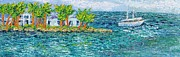 Textures And Colors Painting Prints - Key West Print by Sloane Keats