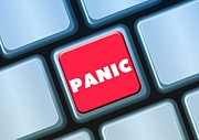 Dismay Photos - Keyboard Button Panic Fear Anxiety Excitement by Paul Fearn