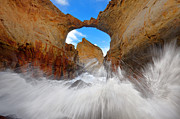 Waves Splash Framed Prints - Keyhole Framed Print by Darren  White