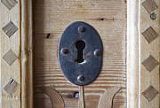 Handcrafted Art - Keyhole from a handmade wooden chest made in 1718 by Stephen Allen