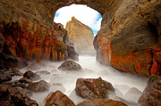 Waves Splash Photos - Keyhole Froth by Darren  White