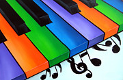 Abstract Music Drawings - Keys by Fidostudio by Tom Fedro - Fidostudio