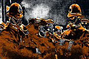Police Officer Metal Prints - Keystone Cops - 20130208 Metal Print by Wingsdomain Art and Photography