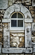 Old Door Framed Prints - Keystone Window Framed Print by Heather Applegate