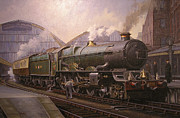 Steam Train Paintings - KG5 at Paddington. by Mike  Jeffries
