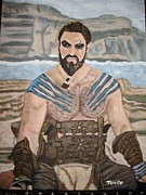 Game Painting Framed Prints - Khal Framed Print by Tammy Rekito