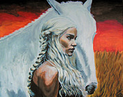 Fan Art Painting Originals - Khaleesi by Demian Legg