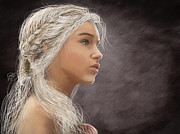 Celebrities Digital Art Framed Prints - Khaleesi Framed Print by Jason Longstreet