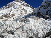 Mt Everest Base Camp Prints - Khumbu Icefall Print by Tim Hester