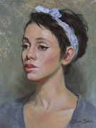 Oil Portrait Painting Originals - Kia by Anna Bain