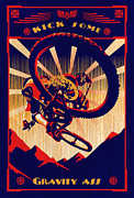 Mountain Biking Paintings - Kick Some Gravity Ass by Sassan Filsoof