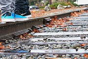 Nike Metal Prints - Kicks on Tracks Metal Print by Christi Warn