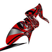 First Star Digital Art Prints - Kicky Heels by jammer Print by First Star Art