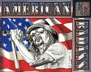 Music Drawings Prints - Kid Rock American Badass Print by Cory Still