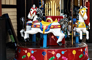 Fun New Art Prints - Kiddie Carousel Print by John Rizzuto