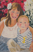 Portraiture Pastels Prints - Kids 1 Print by Dani Altieri Marinucci