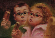 Show Girl Paintings - Kids Eating Ice Cream by Marilyn Weisberg