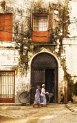 Small Towns Originals - Kids walking in Alley Stonetown Zanzibar by Amyn Nasser