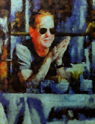Kiefer Sutherland Metal Prints - kiefer Sutherland NYC number 7 Metal Print by Janice MacLellan