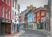 Old Street Painting Metal Prints - Kilkenny Ireland Metal Print by Anthony Butera