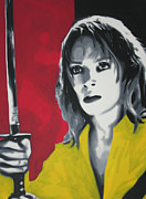 Spaghetti Painting Framed Prints - Kill Bill 2013 Framed Print by Luis Ludzska