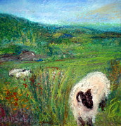 Lamb Pastels Prints - Killarney Lake Print by Beth Sebring