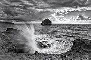 Waves Splash Posters - Killer Cape Kiwanda Poster by Darren  White
