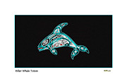Atlantic Killer Whale Framed Prints - Killer Whale Totem Framed Print by Art  MacKay