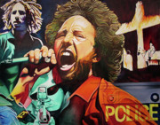Lead Singer Painting Prints - Killing in the Name Print by Joshua Morton