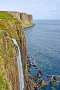 Fall Grass Posters - Kilt Rock Waterfall Poster by Chris Thaxter