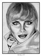Makeup Drawings Posters - Kim Alexis in 1985 Poster by J McCombie